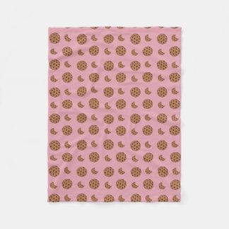 Ljust - rosa choklad kakabitor fleecefilt