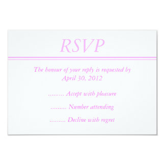 Ljust - rosa händelsesvar eller OSA kort 8,9 X 12,7 Cm Inbjudningskort