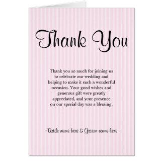 Ljust - rosan görar randig brölloptack OBS kort