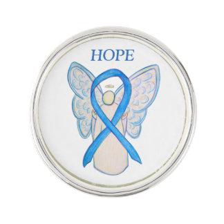 Ljust - slag för ängel för blåttmedvetenhetband kavajnål