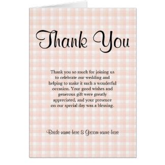 Ljust tack för bröllop för mönster för OBS kort