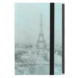 Ljust vintageEiffel torn - blått iPad Mini Skydd