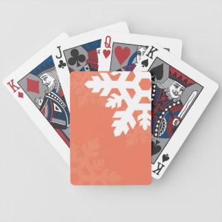 Ljust vitsnöflingor mot rosor spelkort