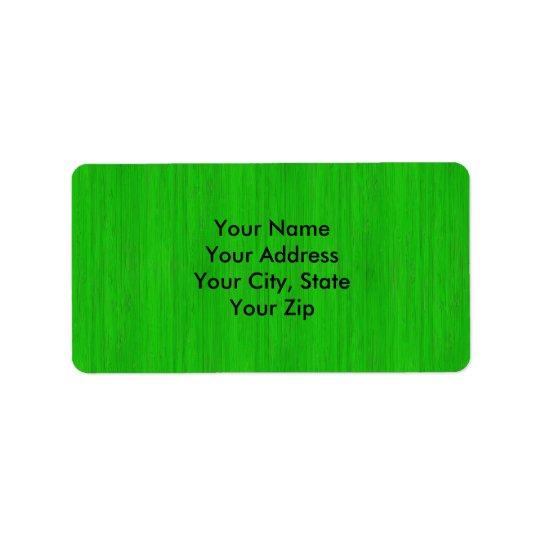 Ljust - Wood kornLook för grön bambu Adressetikett