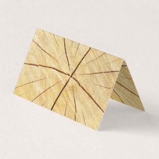 Ljust wood kort för kontorsaffärsdubbla