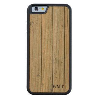 Ljust Wood mönster - brunt Carved Körsbär iPhone 6 Bumper Skal