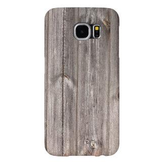 Ljust - Wood struktur för brun lantlig Faux Galaxy S5 Fodral