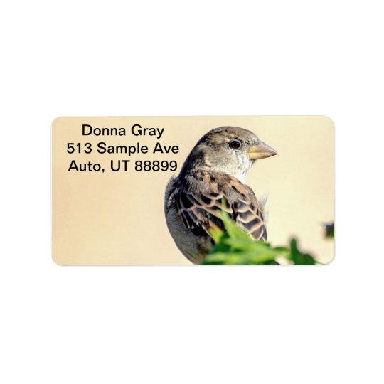 Ljuv fågeladressetiketter adressetikett