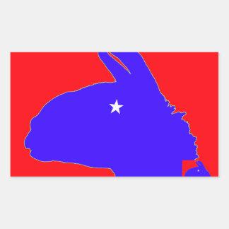 Llama: den lonestar llamaen av texas rektangulärt klistermärke