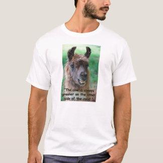 Llamarådgivning: Kon är alltid mer grön T-shirts