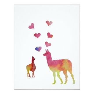 Llamas 10,8 X 14 Cm Inbjudningskort