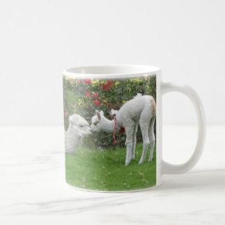 Llamas mamma och son - Peru Kaffemugg
