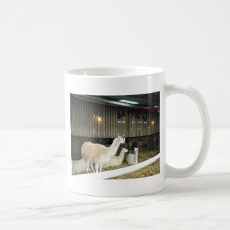 Llamas på lantgården för Ashdown skogLlama Kaffemugg