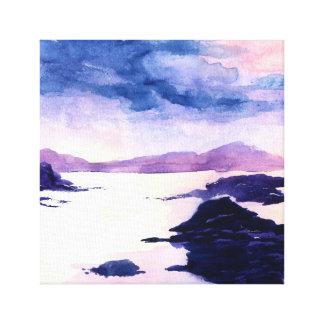 Loch Lomond skotsk akvarellkanfas Canvastryck