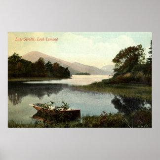 Loch Lomond Skottland, Luss svårighetar vintage 19 Poster