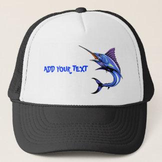 Lock för fiske för blåttMarlin borta Truckerkeps