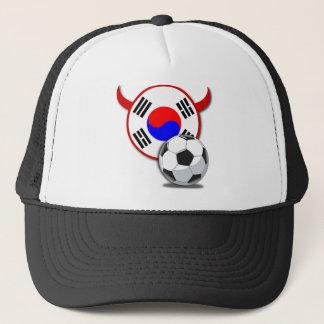 Lock för Sydkorea rött djävularfotboll Truckerkeps