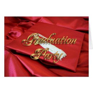 Lock och kappa för studentfestinbjudan rött hälsningskort