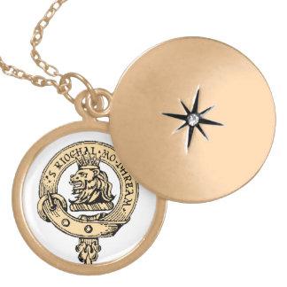 Locket för guld för Gregor emblemhänge Berlockhalsband