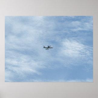 """Lockheed T-33 """"skyttestjärna"""" på Shaw AFB, S.C. Poster"""