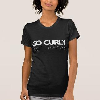Lockig, går är den lyckliga rund halsT-tröja T Shirts