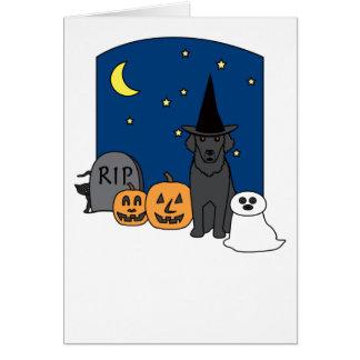 Lockig-Jackad Retriever Halloween Hälsningskort