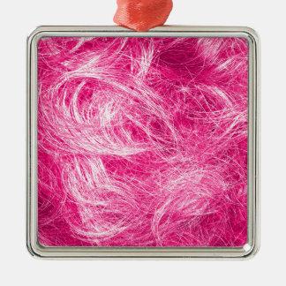 Lockigt rosa hår julgransprydnad metall