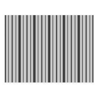 Lodrät görar randig 1 - grå färg B&W Vykort