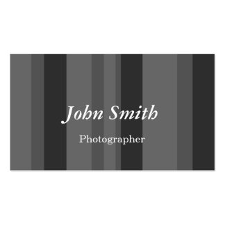 Lodrät görar randig (grå färg) set av standard visitkort