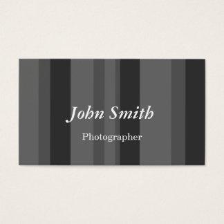Lodrät görar randig (grå färg) visitkort