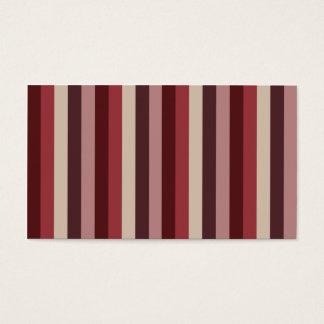 Lodrät görar randig visitkortar (för rött vin) set av standard visitkort