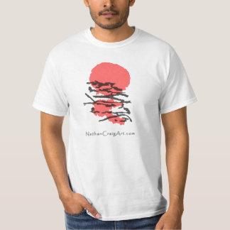 Loft till solen med logotyputslagsplatsen tshirts