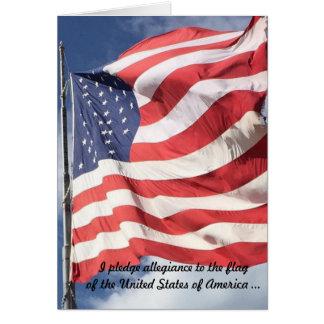 Löfte av det nya medborgarekortet för trohet hälsningskort