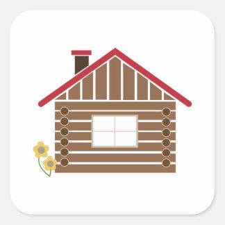 Logga kabinen fyrkantigt klistermärke