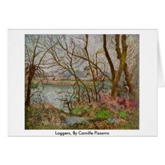 Loggers vid Camille Pissarro Hälsningskort