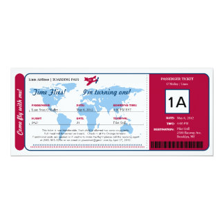 Logiet för världskartafödelsedagen passerar 10,2 x 23,5 cm inbjudningskort