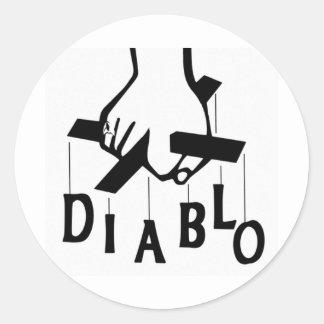 LOGOTYP 2 FÖR DJ CHRIS DIABLO RUNT KLISTERMÄRKE