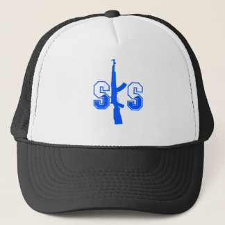 Logotyp Blue.png för SKS-anfallgevär Truckerkeps