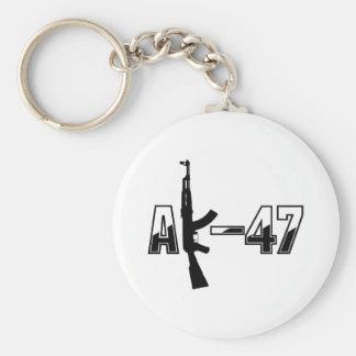 Logotyp för AK-47 AKM anfallgevär Rund Nyckelring