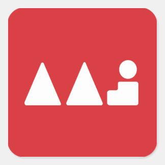 Logotyp för aktivkonstsylt fyrkantigt klistermärke