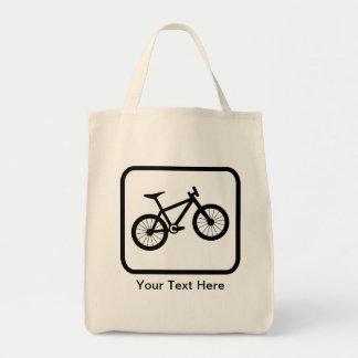 Logotyp för anpassadebergbiker tygkasse