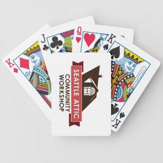 Logotyp för färg som SACW leker kort Spelkort