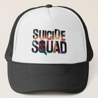 Logotyp för glöd för självmordSquad | färgrik Keps