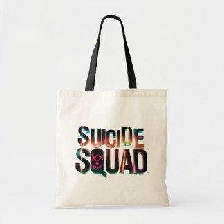 Logotyp för glöd för självmordSquad | färgrik Tygkasse
