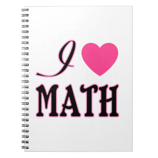 Logotyp för hjärta för kärlekMath rosa Anteckningsbok