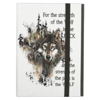 Logotyp för huvud för varg för vild för fodral för iPad air