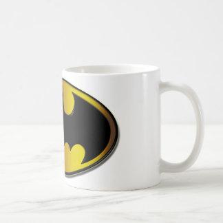 Logotyp för lutning för uppassaresymbol | oval kaffemugg