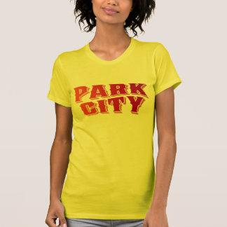 Logotyp för Park City gammal lagrarbrunt Tee Shirt