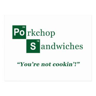 Logotyp för Porkchop smörgåsparodi Vykort