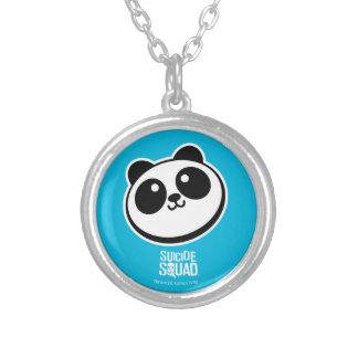 Logotyp för Purveyors för Panda för självmordSquad Silverpläterat Halsband